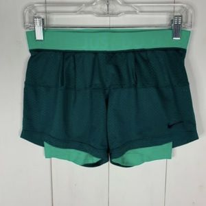 Nike Dri-Fit Green Sz XS Spandex Athletic Shorts